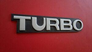 1980-1981-1982-1983-1984-1985-1986-1987-1988 Peugeot 505 Turbo Trunk Lid Emblem.