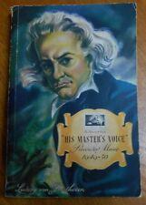UK HIS MASTER'S RECORD CATALOGUE 1949-50