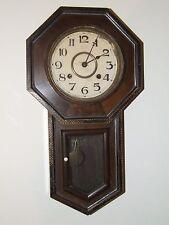 Antique 1920's Japanese Ryusuisha Octagon Drop School House Regulator Wall Clock