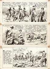 """AURELIO GALLEPPINI (Galep) -  Tavola originale Tex  n.61 """"Morte nella neve"""""""
