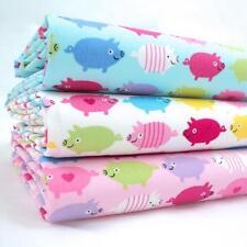 Faisceaux de FQ - Arc-en-ciel cochons - toutes couleurs - 100% TISSU COTON
