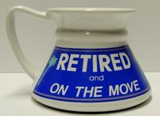 RETIRED AND ON THE MOVE - No Spill & Wont Tip Slide or Splash MUG in Box Vintage