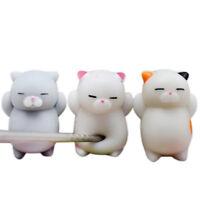 3pcs Cute Mochi Squishy Cat Squeeze Healing Fun Kids Kawaii Toy Stress Reliever*