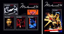 Muhammad Ali Boxeo Deportes Mozambique MNH Juego de Sellos 2 Láminas