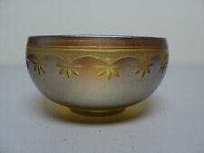 LCT Tiffany Gold FAVRILE Art Glass Engraved Bowl, c. 1900