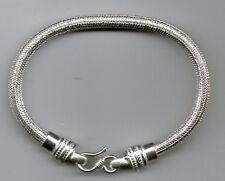 collana 6 mm 46  cm snake INDIAN SILVER lavorazione bagno  argento indiano