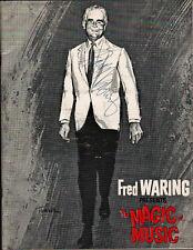 FRED WARING Signed Program - THE MAGIC MUSIC