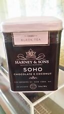 Harney & Sons SOHO Chocolate Coconut Tea in Tin 20 Ct Silken Sachets Great Gift!