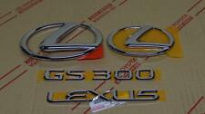 2006 *Neu* Oem Lexus GS300 Chrom Komplett Emblem Set 06 Gs 300