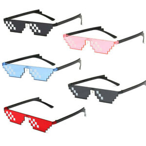 Cool Mosaic Glasses Deal With It 8 Bit Pixel Thug Life Sunglasses Party Eyewear