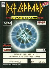 RARE / TICKET BILLET DE CONCERT - DEF LEPPARD : LIVE A PARIS ( FRANCE) 1993
