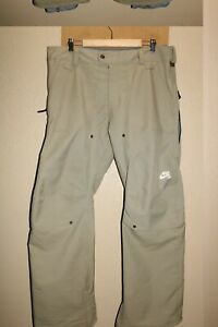 """NIKE Mens Large 36-38""""W 34""""L 10Kmm Insulated Snow/Snowboard Pants"""