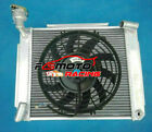 Aluminum Radiator +Fan For 1955-1962 MG A MGA 1500 1600 1622 DE LUXE Twin Cam MT