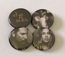 A Star Is Born Button Set Of 4 Pins Pinbacks Lady Gaga Bradley Cooper