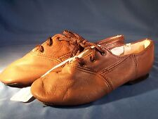 Dance Jazz Shoes Sansha Colorful Brown Tie Up Size 4M *Great for Halloween*