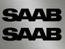 2 x Saab Car Vinyl Decals Stickers Door, Windows, Sides, Rear 9-3 9-5 900 99