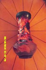 """""""Galle"""" Vase Signed. Gorgeous Cherries Heavy Enameled Glass, Clear Signature."""