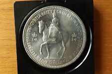 British One Crown Coin 1953 UNC Grade Lustrous Toned With Case Lovely.