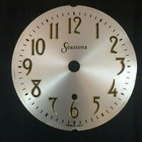Vintage Sessions Clock Face Dial Small Mantle Alarm Clock Silver Stamped Face