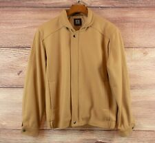 Sportscraft jacket - vintage mens beige heavy bomber jacket coat size M