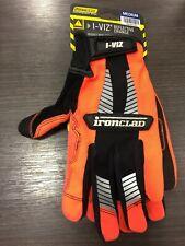 Ironclad Ivo2 03 M Universal Synthetic Leather Safety Gloves Orange Medium