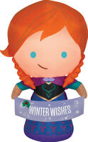 CHRISTMAS SANTA FROZEN ANNA WITH BANNER AIRBLOWN INFLATABLE 3.5 FEET