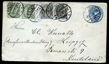 DENMARK 1910 COMMERCIAL COVER TO GERMANY. NICE FRANKING.  A297
