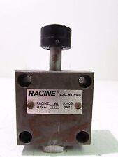 RACINE BOSCH 651216 HYDRAULIC VALVE W/PUSH BUTTON **XLNT**