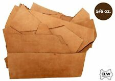 1 LB Scraps Full Grain Leather Tooling Crafts Cowhide 5/6 oz (2mm) Tobacco Brown