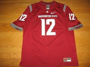 WASHINGTON STATE COUGARS WSU WASSU NCAA #12 NEW FOOTBALL JERSEY BY TEAM NIKE