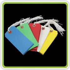 Luggage Tags ID Labels Colours Pre strung Gift Identifications Tag 82mm x 41mm