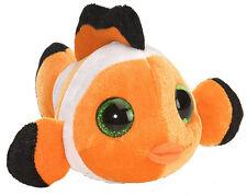 poisson clown 13 cm Lil sucré & Sassy animaux en peluche avec grands yeux,