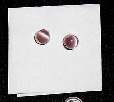 cat eyes Stud Earrings Vintage Light Violet Round