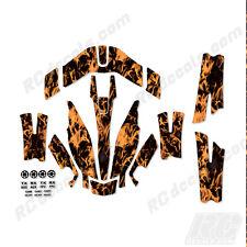 Traxxas Aton Plus Body Wrap Decal Skin Sticker Canopy Orange Flames