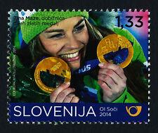 Slovenia 1040 MNH - Tina Maze, Olympic Gold Medalist, Sports, Skiing