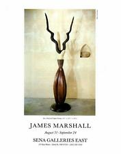 1990:James Marshall-Ibex/Wood- Sena- Artist Exhibition Vtg Ad Art Print 9 x11""