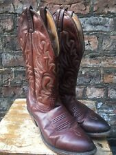 Boulet Brown Western Cowboy Boots Size 5