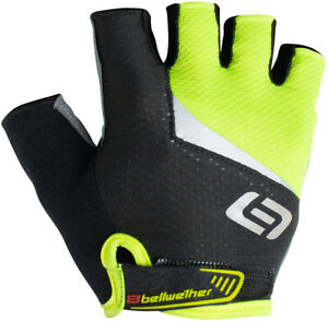 Bellwether Ergo Gel Gloves - Hi-Vis Yellow, Short Finger, Men's, Small