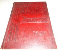 1947 Mt. Zion, Ilinois Community High School Yearbook Zionoiz