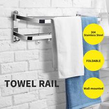 Towel Rail Rack Racks Ladder Shelf Bar Stainless Steel Wall Mounted Bathroom