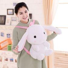 22In. Cute White Bunny Lolita Rabbit Plush Doll Backpack Shoulder Bag Plush Bag