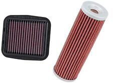 K&N Motorcycle Race Air Filter + Oil Filter Combo 13-14 Ducati 899 1199 Panigale