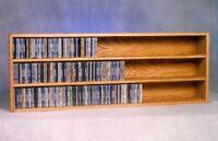 Solid Oak Wall or Shelf Mount CD Cabinet Model 303-4