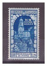 REGNO 1934  -  ANNESSIONE  FIUME   LIRE 1,25   -  NUOVO **