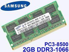 2GB DDR3-1066 PC3-8500 SAMSUNG M471B5673EH1-CF8 SODIMM LAPTOP RAM SPEICHER