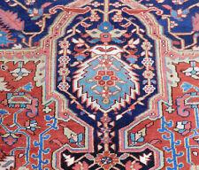Antique Heriz Serapi rug estate lovely carpet 10x13'8''