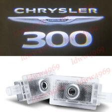 2pc LED Logo Door Courtesy Projector Puddle Light For Chrysler 300 2005-2019