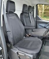 Ford Transit Custom - Black Tailored Heavy Duty Van Seat Covers For 2013 - 2020
