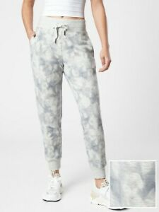 ATHLETA Balance Printed Jogger  XLT X-Large Tall XL T Serene Light Grey Pant NEW