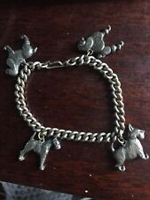 Charm Bracelet Tests As Silver With Silver Dog Charms
